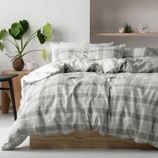 Linen House GRAHAM Cotton Flannelette Duvet | Doona Quilt Cover Set | Reversible