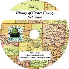 1919 History & Genealogy of CUSTER County Nebraska NE