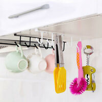 Storage Cabinet Hanging Cup Shelf Hook Holder Organiser Cupboard Kitchen Rack Z