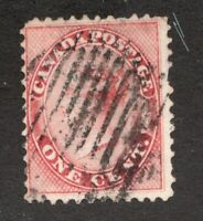 #14  - Canada -  1 Cent - used - VG/F as shown -  superfleas