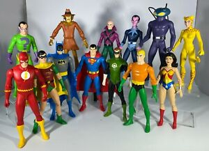 DC Direct Super Friends and Legion of Doom Action Figures Complete Set of 13