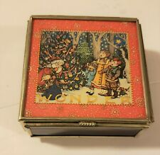 Christmas Mary Engelbreit Enesco Wonder Mirrored Glass Jewlry Trinket Box