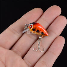 1pcs Plastic Fishing Lure Bass CrankBait Crank Bait Tackle 2.6cm/1.2g Cute