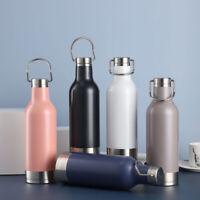 Portatile Borraccia Termica Bottiglia d'Acqua Acciaio Inox Thermos 500ml SS304