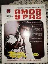 "ELVIS PRESLEY, ""AMOR Y PAZ,"" MEXICAN SPANISH LANGUAGE MAGAZINE, ELVIS COVER"