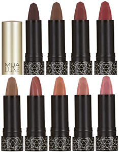 MUA LUXE VELVET MATTE LIPSTICK ALL SHADES NEW & SEALED ONLY £2.97 FREE POST !!!