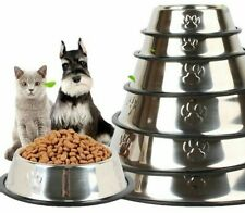 Durable Anti-skid Feeding Bowl For Pets Stainless Steel Feeding Snacks Container