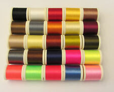 All 25 colors of Fly Tying Danville 6/0 70 Denier Thread in 200 Yd Spools