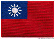 TAIWAN NATIONAL FLAG PATCH CHINA iron-on EMBROIDERED SOUVENIR CHINESE APPLIQUE