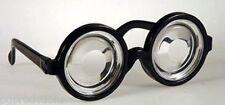 FUNNY NERD GEEK GLASSES Dork Thick Lenses Costume Joke Gag Toy Black Plastic