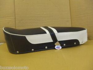Lambretta Standard Seat Cover in Blue and White 000362