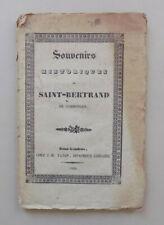 Souvenirs historiques de Saint-Bertrand de Comminges - 1839 EO Rare