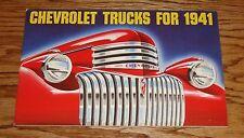 1941 Original Chevrolet Trucks Pickup Sales Brochure 41 Chevy