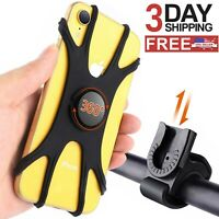 Silicone Detachable 360 Cell Phone Mount Holder For Bicycle  Motorcycle MTB Bike