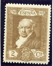 España; 1930 temprana Goya cuestión Fino con bisagras de menta 2c. valor