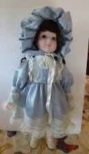 Vintage 1988 Victorian Costumed MANN Wind Up Music Box Porcelain Doll NWOT