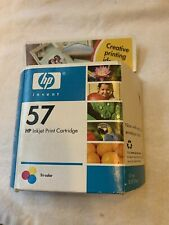 HP 57 PRINTER INK, NEW IN BOX TRI COLOR CARTRIDGE, UNOPENED