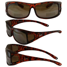 Motorcycle Sunglasses FIT OVER PRESCRIPTION GLASSES & POUCH DRIVING MIRROR  LENS