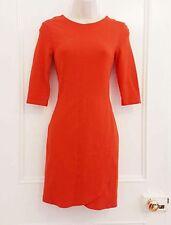 TOPSHOP Orange Wrap Stretch Mini Bodycon Dress Short sleeve s.8 skirt Top Blouse