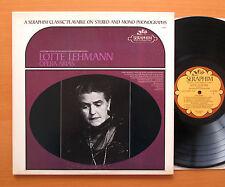 Lotte Lehmann Opera Arias 80th Anniversary Angel Seraphim 60060 EXCELLENT