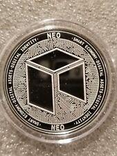NEO 1 oz .999 silver commemorative coin crypto currency bitcoin, btc, eth smart