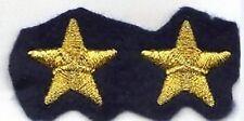 [Militaria] Coppia Stelle ricamate - Stellette oro su fondo blu navy - mm 23