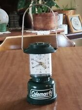 2008 Miniature Green Coleman Lantern Battery Alarm Clock Working Condition