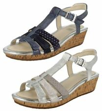 Clarks Leather Upper Medium Width Sandals for Girls