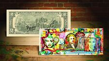 MADONNA DREAM by RENCY Art Giclee on Real $2 Bill Signed by Artist #/215 Banksy