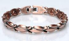 COPPER MAGNETIC LINK BRACELET lady womens STYLE#L-FV  jewelry health Energy NEW