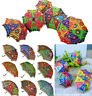 Vintage Decorative Indian Embroidered Parasol Sun Shade Umbrella Wholesale Lot