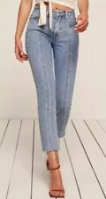 NWOT Reformation $148 Seamed Jean Sz 27 X 28 Caribbean Wash