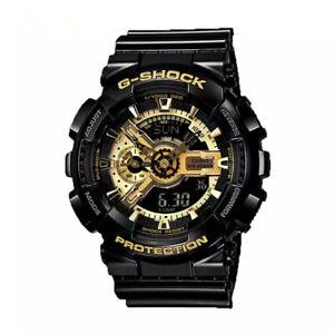 NEW G-Shock GA110GB-1A Men's Watch Black Gold Dial Resin Chronograph