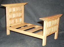 Dollhouse Miniature Mexican Hacienda Single Bed MAF2201 (S) Furniture 1:12