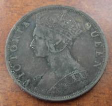 Hong Kong 1901 Bronze 1 Cent VF Victoria