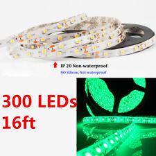 16Ft LED Strip Light Green String Color Changing Lamps Indoor Room Home 3528 12V