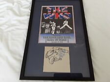 THE WHO  SIGNED AUTOGRAPHS DALTREY,TOWNSHEND, ENTWHISTLE live at leeds