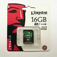 16GB Kingston SD SDHC Class 10 Memory Card for Camera GPS Tablet
