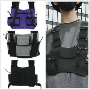 Holster Vest Rig Bag Pocket Radio Chest Harness Chest Front Pack Pouch Walkie