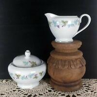 Vintage fine china of Japan MS 6701, Cream and sugar set, grape leaf pattern