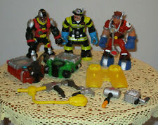 Lot of 3 RESCUE HEROES 6'' Figures and Accessories