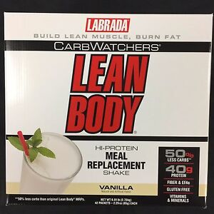 LABRADA LEAN BODY CARB WATCHERS 42 PACK DRINK MIX MEAL REPLACEMENT FREE SHIPPING