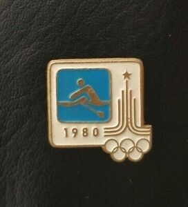 1980 Rowing XXII Olympic Games Moscow Soviet Pin Badge Sport FISA USSR