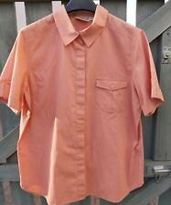 Equorian Coral Short Sleeve Blouse Size 18