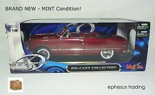Maisto SE 1949 FORD Custom Convertible Flathead V8 Maroon w/White 31682 1/18 NEW
