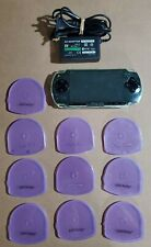 Sony PSP 2001 Black Console w/6 games and accessories