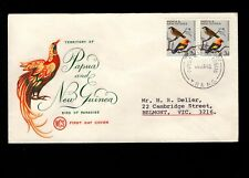Papua & New Guinea Port Moresby 1st Day 1965 Birds Pair 3d Cover 5l