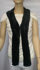 Fashion Faux Fur Collar Pre Cut and Fully Lined Long Black #t595 -