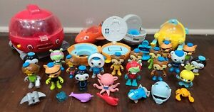 Octonauts Gup Vehicles and Figures Lot with Accessories