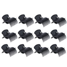 12Pcs Salon Hot Roller Super Clips Hair Curler Claw Clamps for Women Black